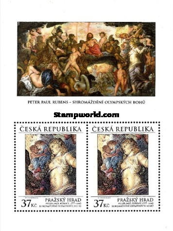 [Paintings - Prague Castle, an Assembly of Olympian Gods -by Peter Paul Rubens, type ]