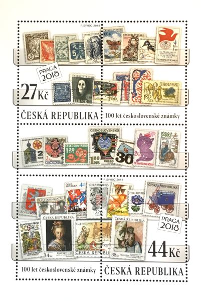 [The 100th Anniversary of the First Czechoslovak Postage Stamps, type ]