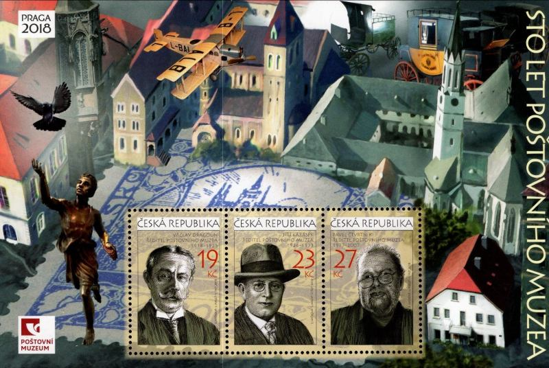 [World Stamp Exhibition PRAGA 2018 - The 100th Anniversary of the Postal Museum, type ]