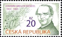 [The 90th Anniversary of the birth of Gregor Johann Mendel, 1822-1884, type AAE]