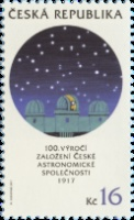 [The 100th Anniversary of the Czech Astronomical Society, type AJE]