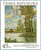 [Art on Stamps -  Václav Radimský, 1867-1946, type AMM]
