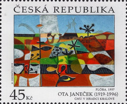 [Works of Art on Stamps - Ota Janecek, 1919-1996, type ANG]