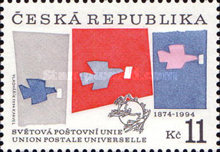 [120th Anniversary of the Universal Postal Union, type AW]