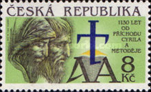 [The 1130th Anniversary of the Arrival of St.Cyril and Methodius, type K]