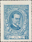 [President Masaryk(1850-1937) - Coloured Paper, Typ AM1]
