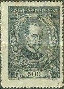 [President Masaryk(1850-1937) - Coloured Paper, Typ AM2]