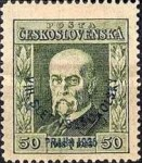 [Congress of Sokols, President Masaryk - No.208-211 Overprinted - Sold at Double Face Value, type AY]