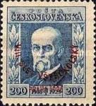 [Congress of Sokols, President Masaryk - No.208-211 Overprinted - Sold at Double Face Value, type AY2]