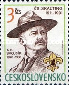 [The 80th Anniversary of Czechoslovak Scout Movement and the 115th Birth Anniversary of A. B. Svojsik (Founder), Typ CRX]