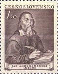 [The 360th Anniversary of the Birth of Komensky (Educationist), type FH]