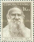 [The 125th Anniversary of the Birth of Leo Tolstoy, Writer, Typ KB]
