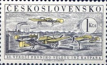 [Airmail - The 50th Anniversary of 1st Flight by Jan Kaspar, Typ WH]