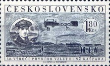 [Airmail - The 50th Anniversary of 1st Flight by Jan Kaspar, Typ WI]