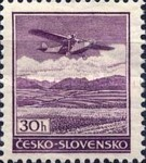 [Airmail - Airplane over Landscape, type YEE]