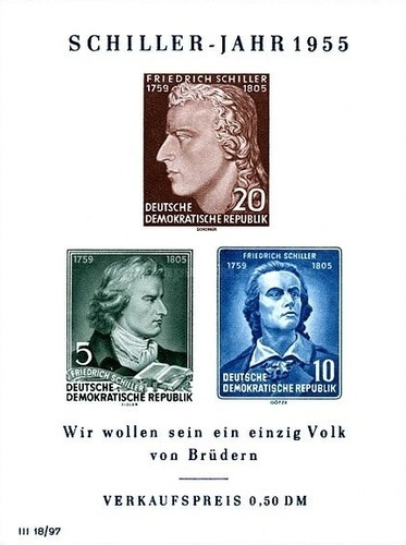 [The 150th Anniversary of the Death of Friedrich von Schiller, Typ ]