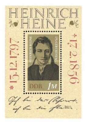 [The 175th Anniversary of the Birth of Heinrich Heine. Poet, Typ ]