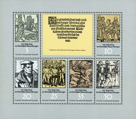 [The 450th Anniversary of the German Peasant War, Typ ]