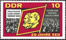 [The 20th Anniversary of the Socialist Unity Party, Typ ADV]