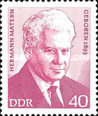 [The 80th Anniversary of Hermann Matern, Typ BDR]