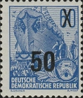 [Definitives - Five-Year Plan Typography Printing Stamps Surcharged - Glossy Letterpress Overprint, Typ DF2]