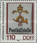 [Historical Post Office Signs - Size: 27 x 33mm, Typ DGB]