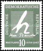 [The 100th Anniversary of the Birth of Max Planck, Typ JR]