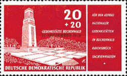 [In Memorial of Buchenwald Overprinted
