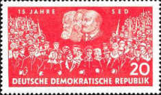 [The 15th Anniversary of the Socialist Unity Party, Typ QU]