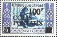 [Dahomey Postage Stamps of 1961 Surcharged and Overprinted