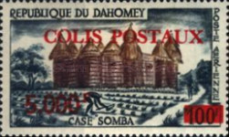 """[Dahomey Postage Stamps of 1960 Surcharged and Overprinted """"COLIS POSTAUX, type M]"""