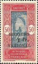 """[Issues of 1913, 1926, 1930 & 1938 Overprinted """"SECOURS +1 fr. NATIONAL"""" & Surcharged, type AI]"""