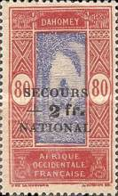 """[Issues of 1913, 1926, 1930 & 1938 Overprinted """"SECOURS +1 fr. NATIONAL"""" & Surcharged, type AI1]"""