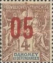 [Issues of 1899-1905 Overprinted in Red or Blue - Distance between 0 & 5 = 2 mm; Distance between 1 & 0 = 3mm, type F1]