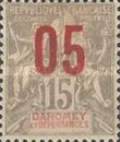 [Issues of 1899-1905 Overprinted in Red or Blue - Distance between 0 & 5 = 2 mm; Distance between 1 & 0 = 3mm, type F2]