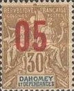 [Issues of 1899-1905 Overprinted in Red or Blue - Distance between 0 & 5 = 2 mm; Distance between 1 & 0 = 3mm, type F5]