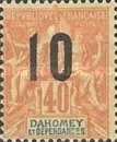 [Issues of 1899-1905 Overprinted in Red or Blue - Distance between 0 & 5 = 2 mm; Distance between 1 & 0 = 3mm, type F6]
