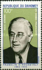 [Airmail - The 25th Anniversary of the Death of Franklin D. Roosevelt, 1882-1945, Typ IK]