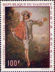 [Airmail - The 250th Anniversary of the Death of Jean Antoine Watteau, 1684-1721, Typ JR]