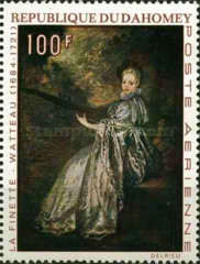 [Airmail - The 250th Anniversary of the Death of Jean Antoine Watteau, 1684-1721, Typ JS]