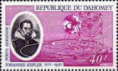 [Airmail - The 400th Anniversary of the Birth of Johannes Kepler, 1571-1630, Typ JX]