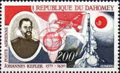 [Airmail - The 400th Anniversary of the Birth of Johannes Kepler, 1571-1630, Typ JY]