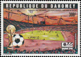 [Airmail - Football World Cup - West Germany, type NZ]