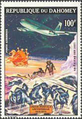 [Airmail - The 100th Anniversary of Universal Postal Union, type OI]