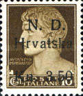 [Italian Postage Stamps Surcharged, Typ A]