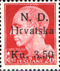 [Italian Postage Stamps Surcharged, Typ A1]