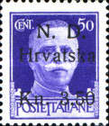 [Italian Postage Stamps Surcharged, Typ A4]