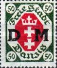 [Danzig Postage Stamps of 1921 Overprinted