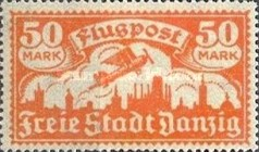 [Airmail - See Also No.57-62, Typ AG]