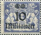 [Hyperinflation Overprints on the Coat of Arms of Danzig, type AO5]